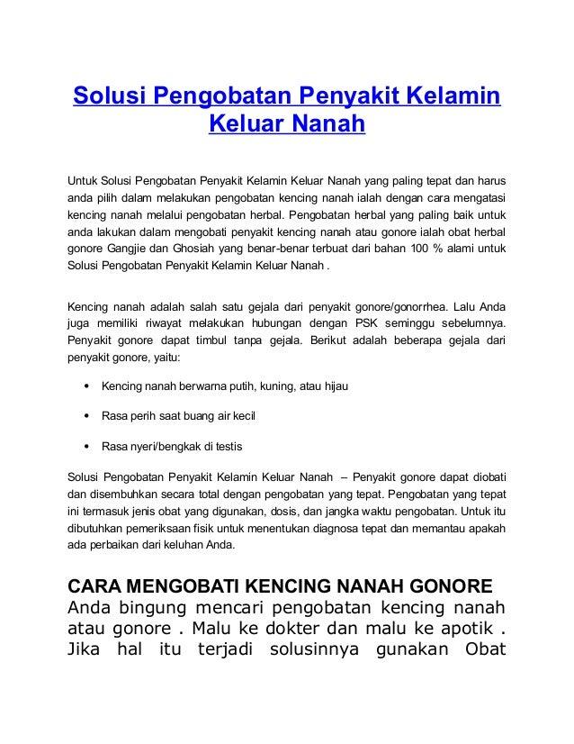 Solusi Pengobatan Penyakit Kelamin Keluar Nanah Untuk Solusi Pengobatan Penyakit Kelamin Keluar Nanah yang paling tepat da...