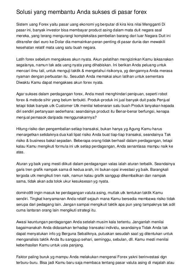 Perdagangan Internasional - Forex Indonesia