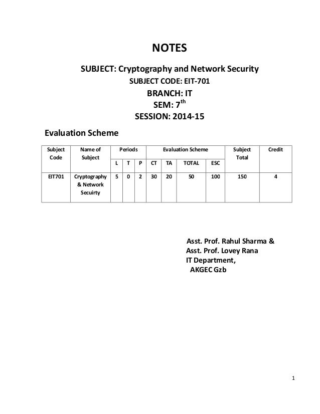 Atul Kahate Cryptography And Network Security Pdf