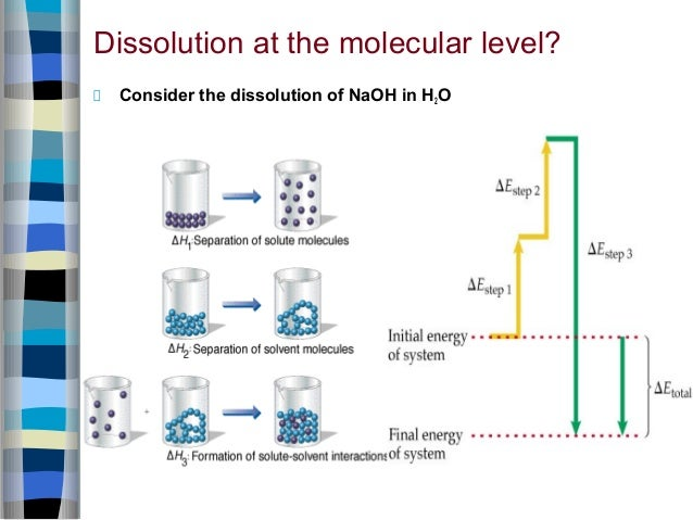 dissolution at the molecular level? consider the dissolution of naoh in h2o