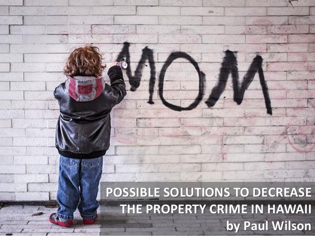 Considering Solutions To Decrease Property Crime in Hawaii