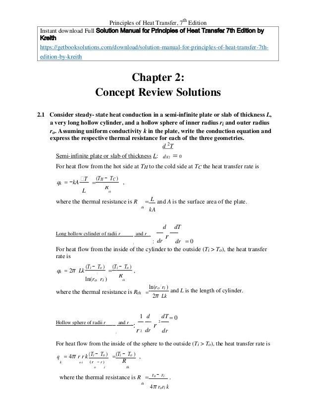 principles of heat transfer 7th edition pdf