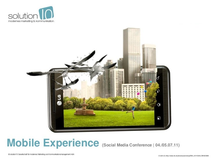 Mobile Experience   (Social Media Conference | 04./05.07.11)                                                 Credit: LG (h...