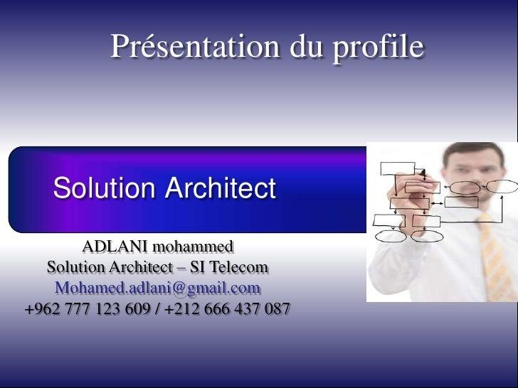 Présentation du profile               Chaîne d'activation                   Chaîne de valorisation                     Cha...