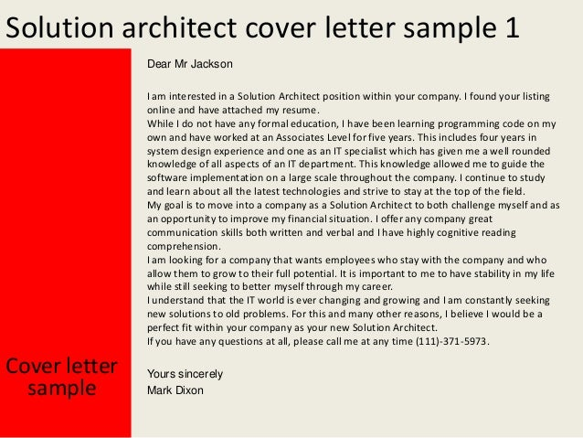 bi architect cover letter - Template