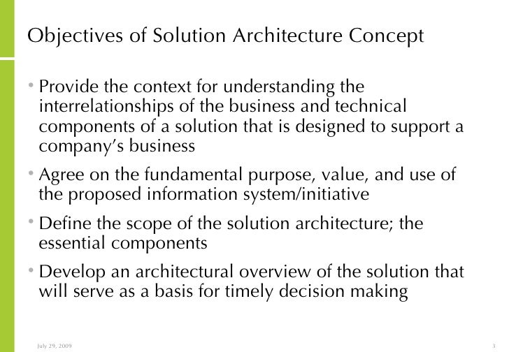Lovely Objectives Of Solution Architecture ...