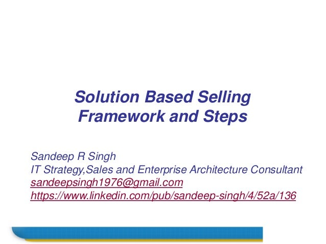 Name Sandeep R Singh IT Strategy,Sales and Enterprise Architecture Consultant sandeepsingh1976@gmail.com https://www.linke...