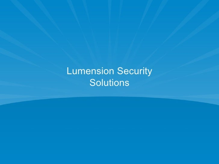 Lumension Security Solutions