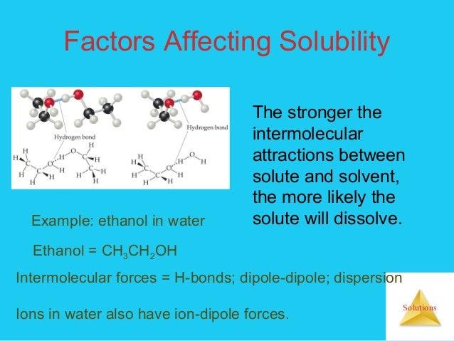 Solution Chemistry Enthalpy