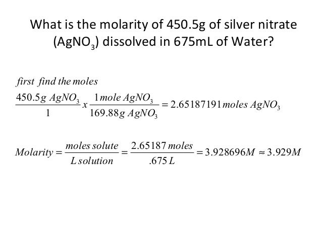Solution chemistry notes