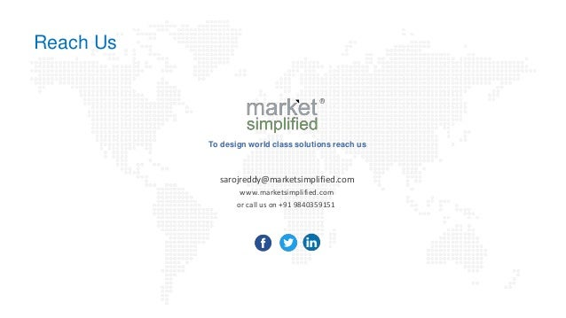 To design world class solutions reach us sarojreddy@marketsimplified.com www.marketsimplified.com or call us on +91 984035...