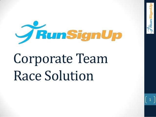 Corporate TeamRace Solution                 1