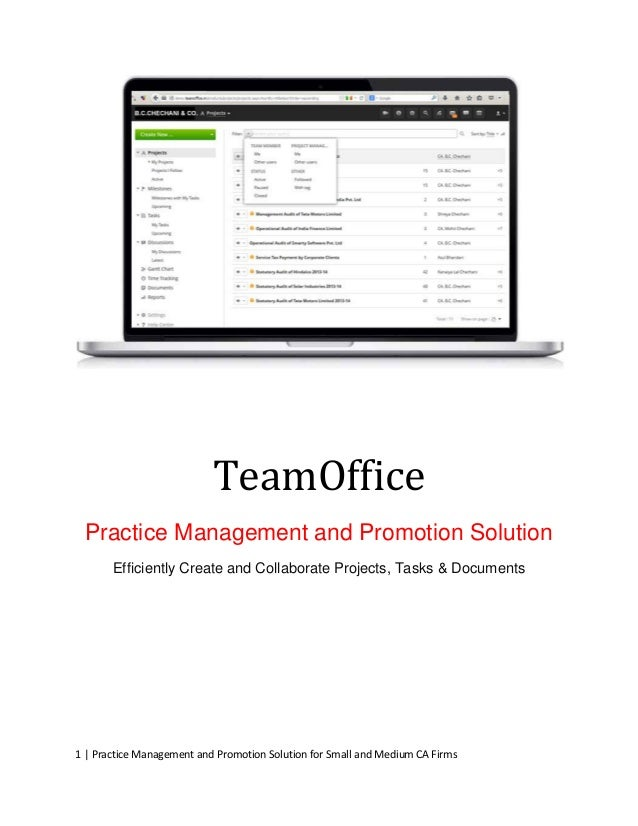 Software Solution for Practice Management and Promotion