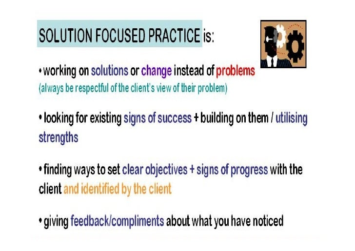Solution Focus   Key Areas