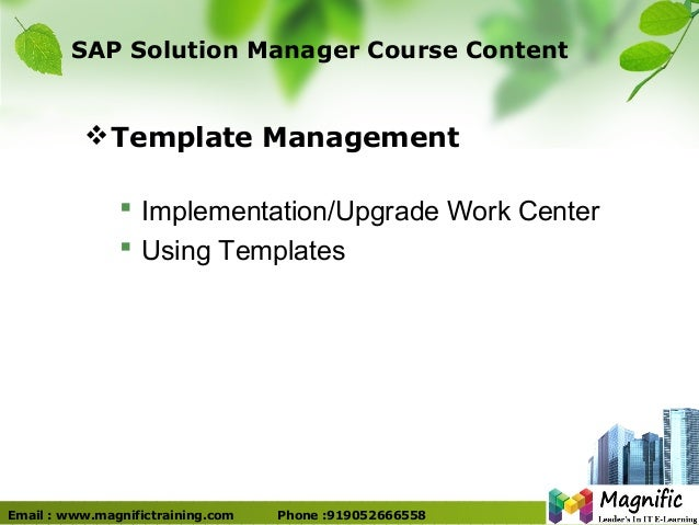 Solution manager certification overview tutorial online