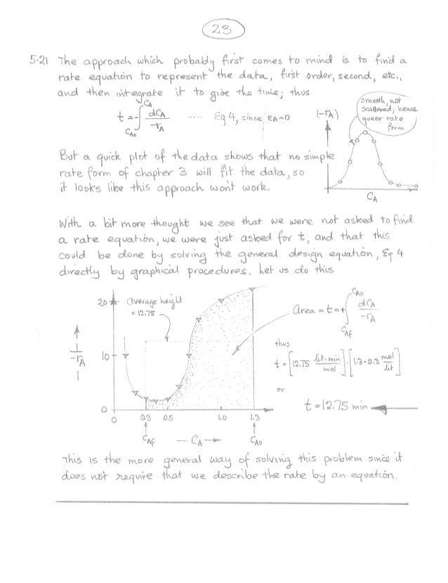 Octave Levenspiel 3rd Edition Solution Manual