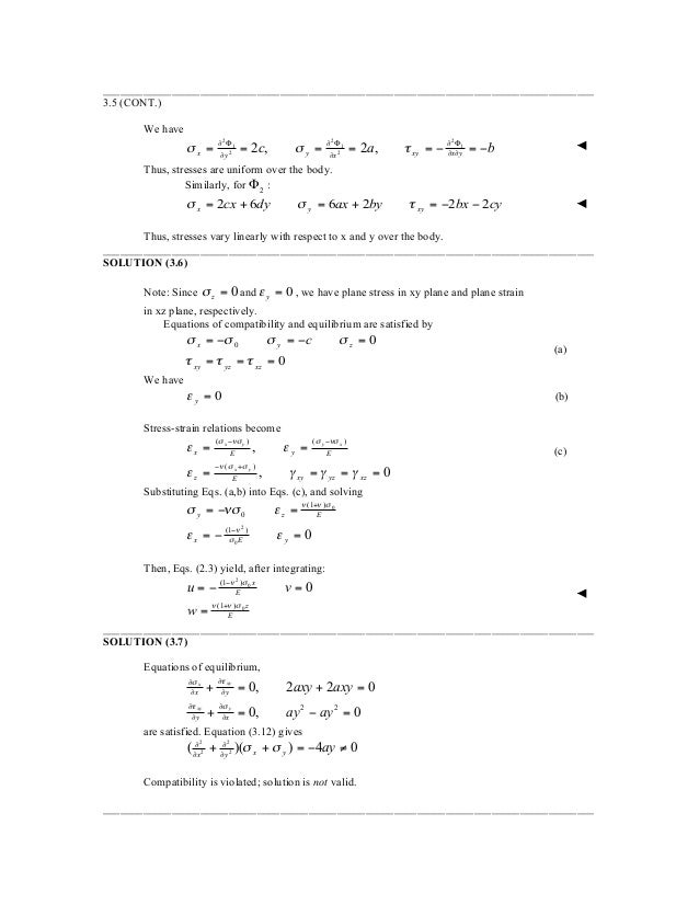 solution manual for advanced mechanics of materials and applied elast rh slideshare net Computer Manual Engineering Solutions Manual