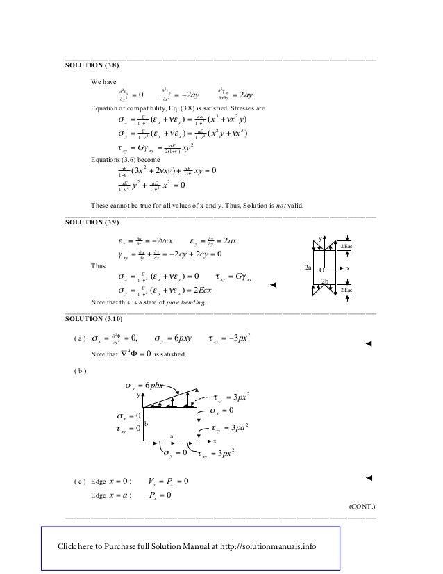 mechanics of materials philpot solutions manual pdf