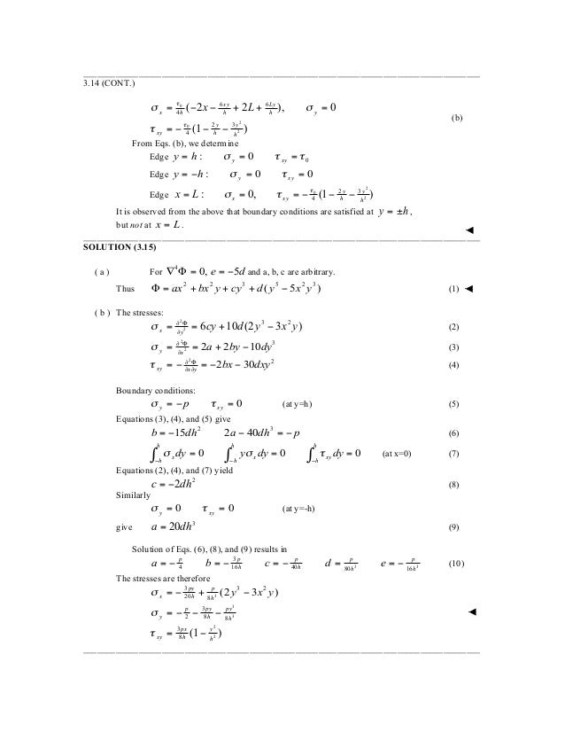 Solution Manual For Advanced Mechanics Of Materials And Applied Elast