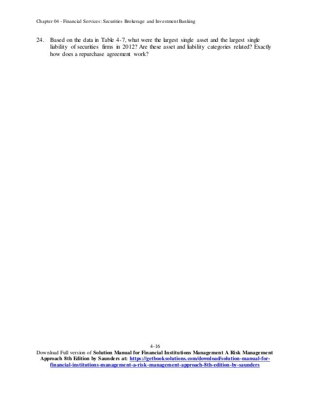 financial institutions management a risk management approach solution manual pdf