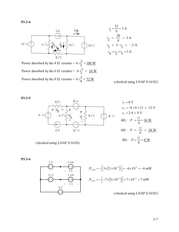 solution manual for introduction to electric circuitsp3 3 4 12 i \u003d \u003d2a 1 6 20 i \u003d \u003d 5a 2 4 i \u003d 3−i \u003d − 2 a 3 2 i \u003d i i \u003d 3a 4 2 3power