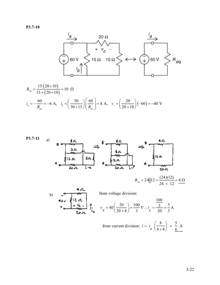 solution manual for introduction to electric circuits rh slideshare net fundamental of electric circuits solution manual 3rd edition fundamental of electric circuits 3rd edition solutions manual