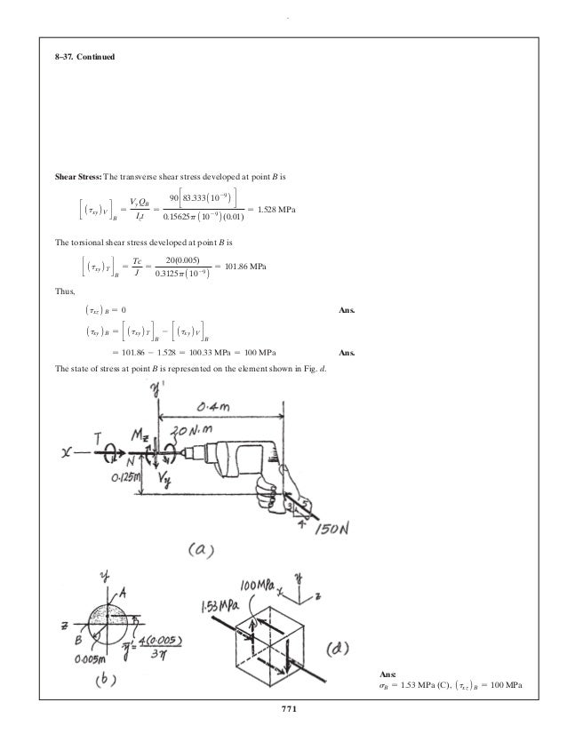 Solution Manual For Mechanics Of Materials 10th Edition Hibbeler Sam