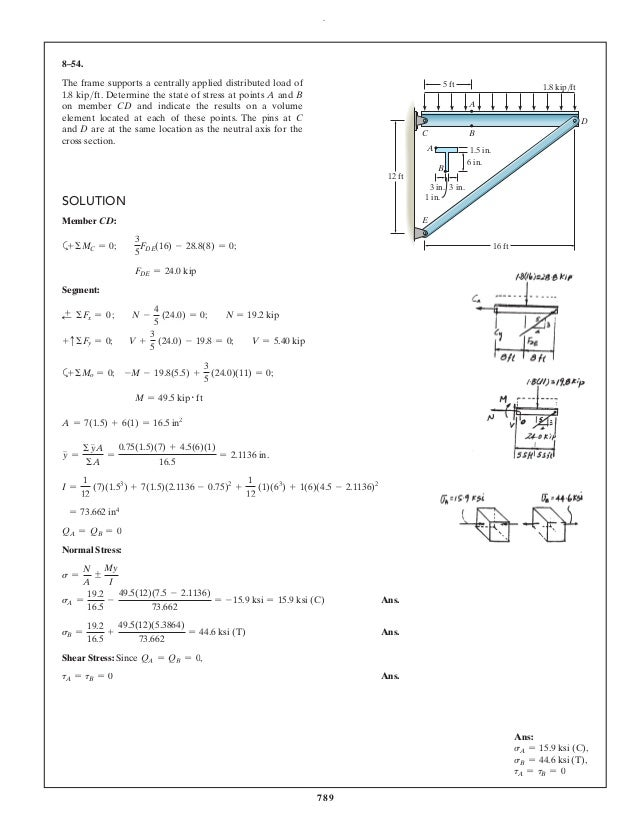 hibbeler mechanics of materials solutions كتاب hibbeler – mechanics of materials 9th edition c2014 stress3 chapter objectives 3 11 introduction3 12 equilibrium of a deformable body4.