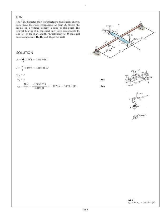 mechanics of materials 10th edition solution manual