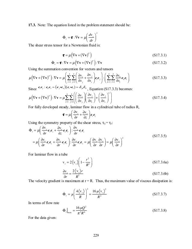 Solution manual for transport phenomena in biological systems 2nd edi….