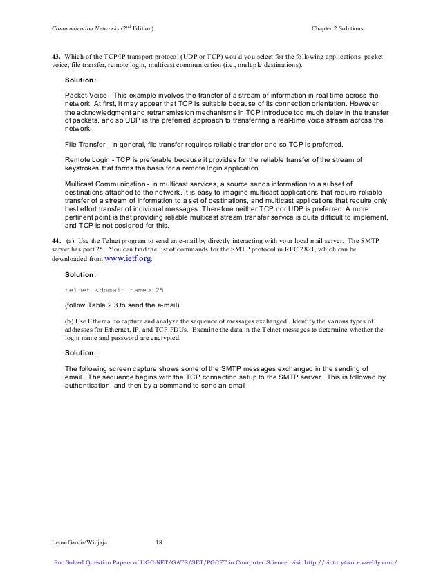 leon garcia communication networks solution manual pdf