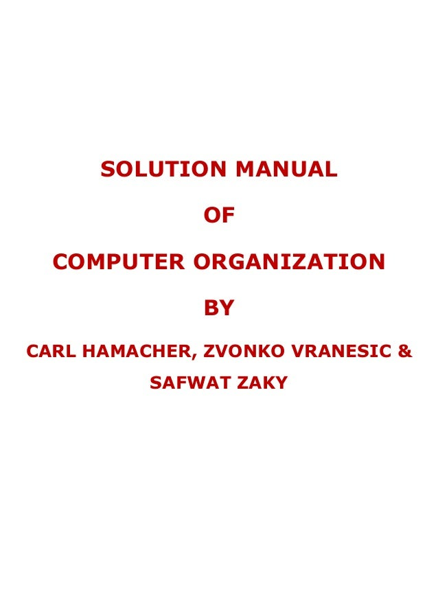 Hamacher Computer Organization Ebook