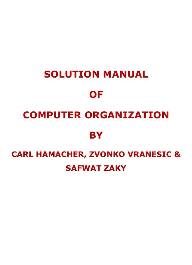 Hamacher Computer Organization Ebook