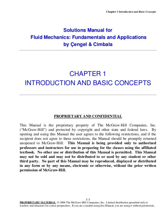 Solution Manual Of Fluid Mechanics Fundamentals And Applications