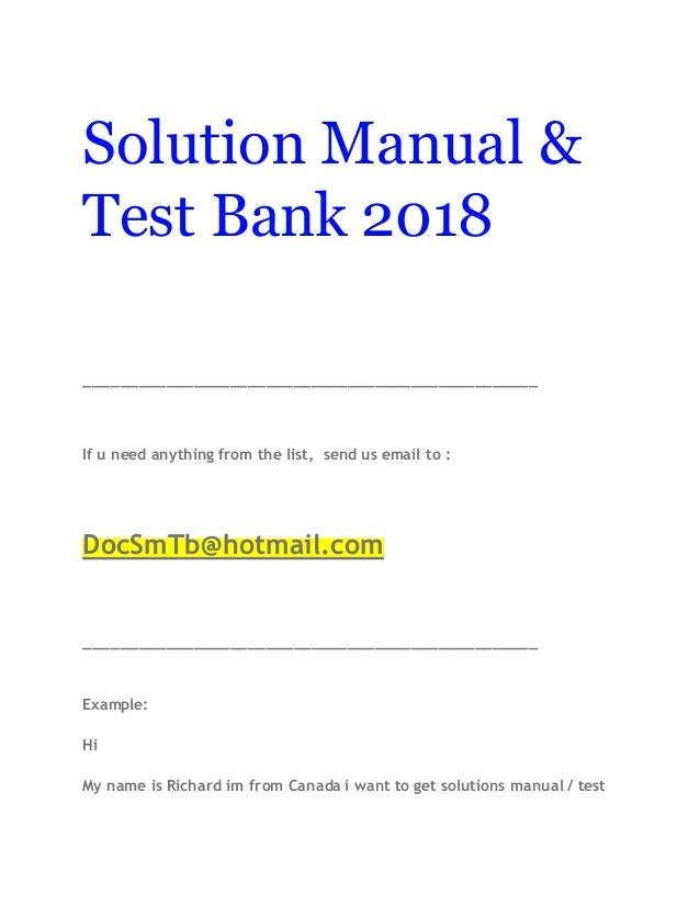 solution manual test bank 2018 rh slideshare net solution manual test bank review test bank solution manual cafe