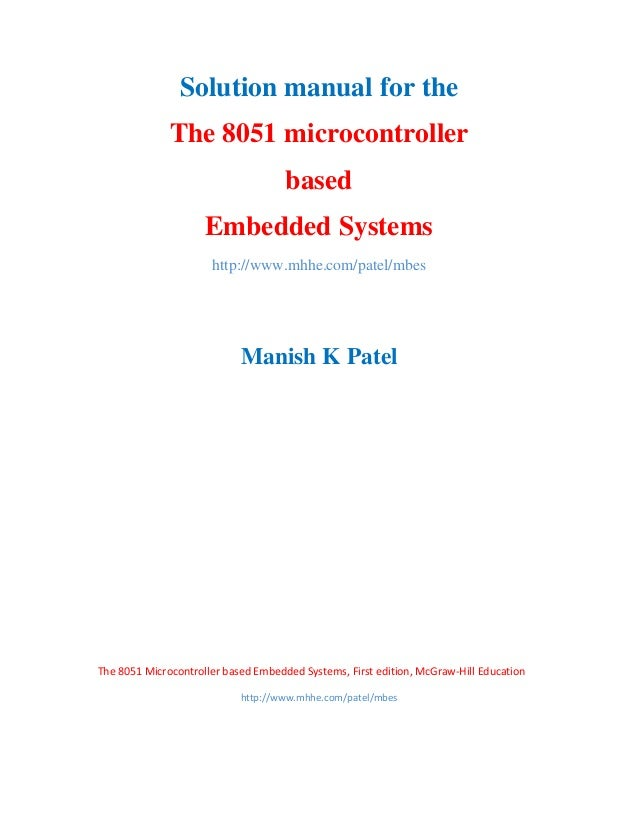 solution manual the 8051 microcontroller based embedded systems rh slideshare net