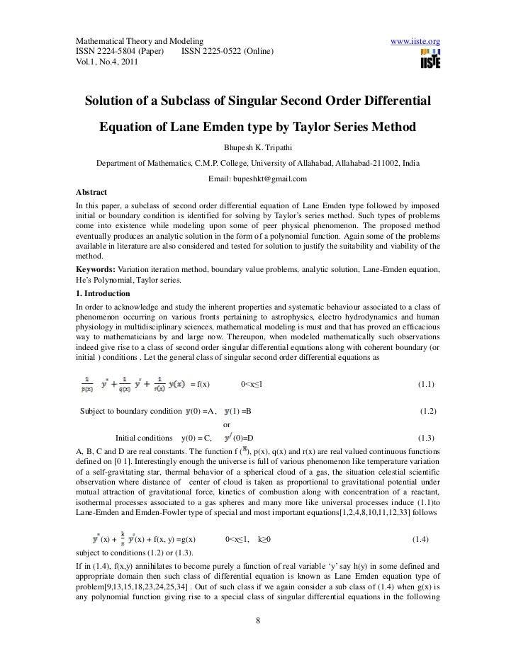Mathematical Theory and Modeling                                                                   www.iiste.orgISSN 2224-...