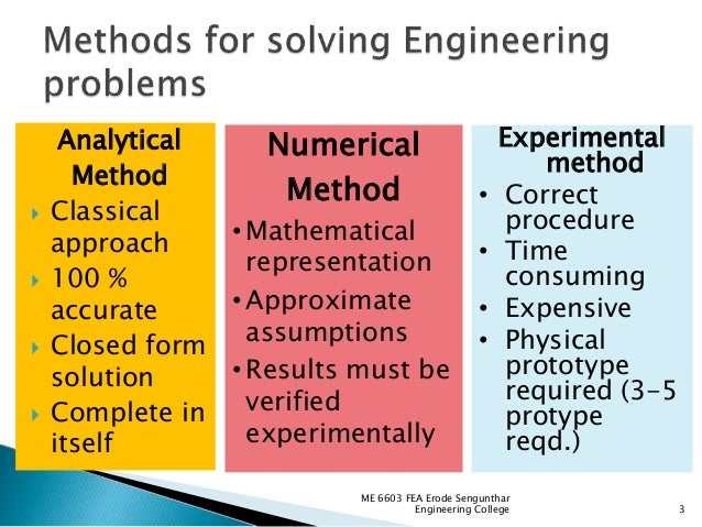 solution  engineering problems