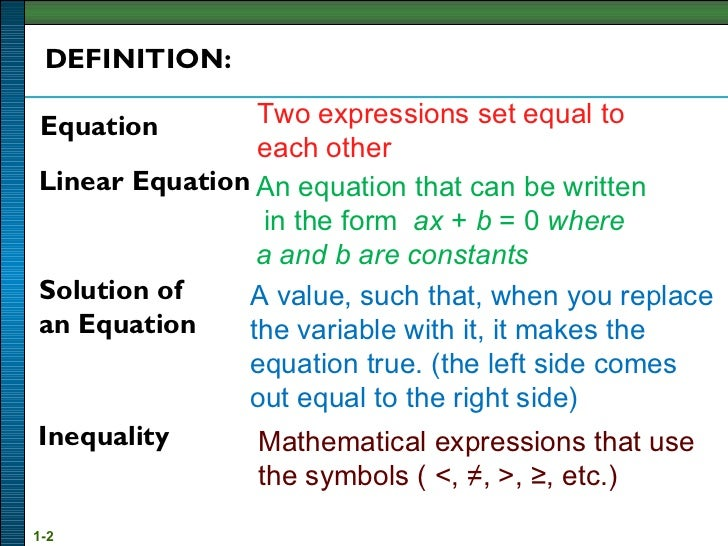 Solution Of Linear Equation Inequality