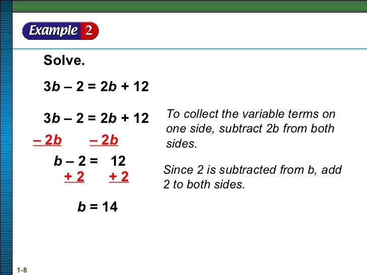Solution of linear equation & inequality
