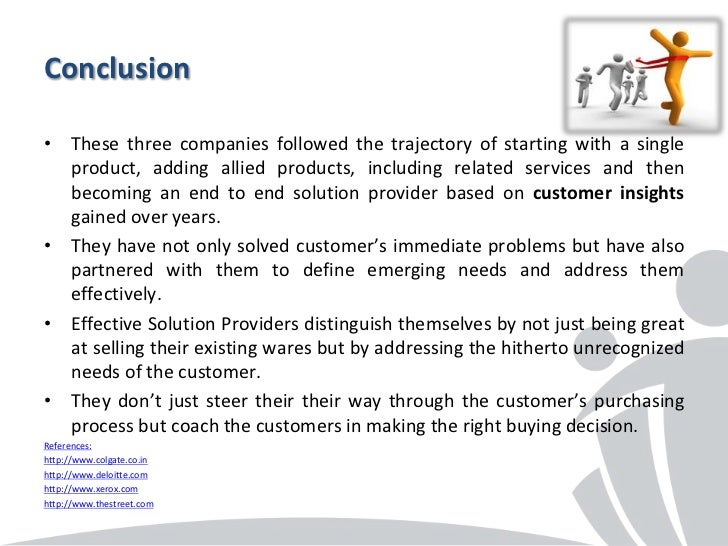 Conclusion• These three companies followed the trajectory of starting with a single  product, adding allied products, incl...