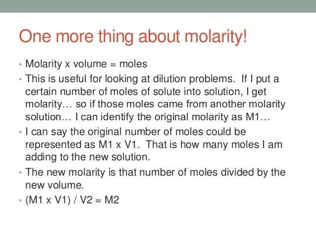 Density to molarity calculator