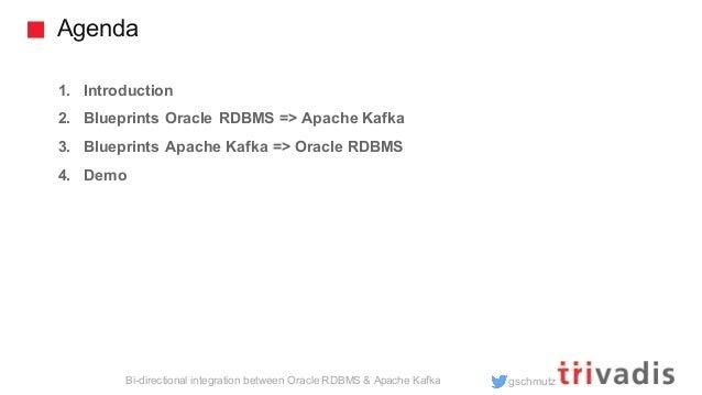 Solutions for bi-directional Integration between Oracle RDMBS & Apache Kafka Slide 2