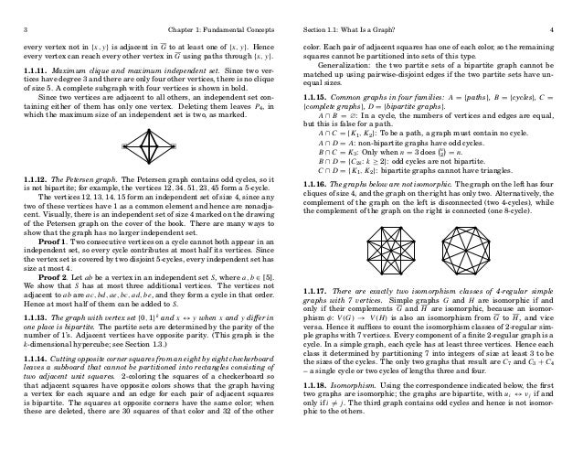 3  Chapter 1: Fundamental Concepts  every vertex not in {x, y} is adjacent in G to at least one of {x, y}. Hence every ver...