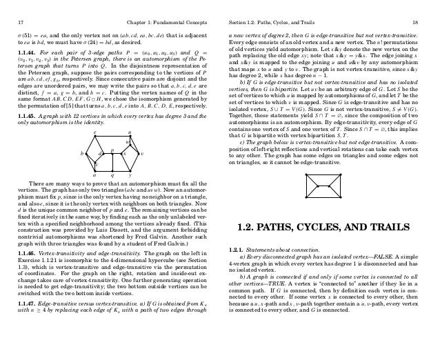 17  Chapter 1: Fundamental Concepts  σ (51) = ea , and the only vertex not on (ab, cd, ea, bc, de) that is adjacent to ea ...