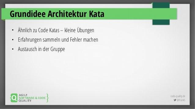 Was Machen Architekten architektur kata workshop solutions