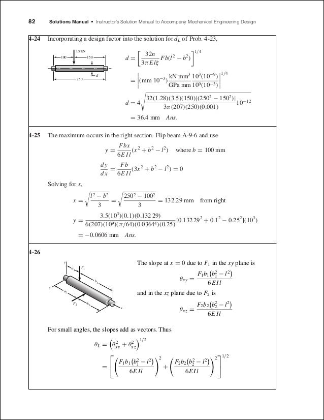 solutions completo elementos de maquinas de shigley 8th edition rh slideshare net mechanical engineering design solution manual pdf shigley's mechanical engineering design 9th edition solution manual chapter 5