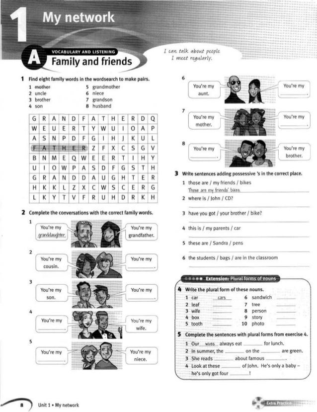 ГДЗ. Ответы к «Family and Friends» Workbook. Рабочая тетрадь. 2 класс