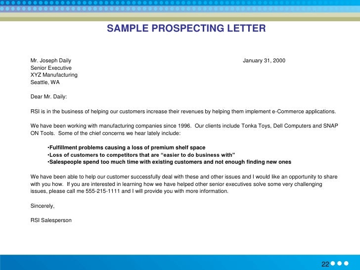 Solution selling methodology training sample prospecting letter altavistaventures Gallery