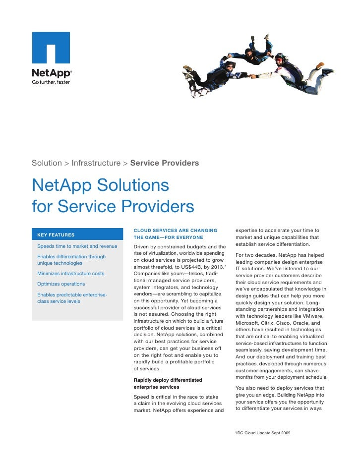 Solution > Infrastructure > Service Providers   NetApp Solutions for Service Providers                                    ...